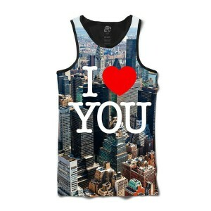 Camiseta BSC Regata I Love NYC Sublimada Preto