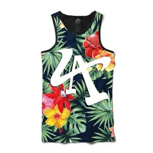 Camiseta BSC Regata LA Flower Full Print Preto