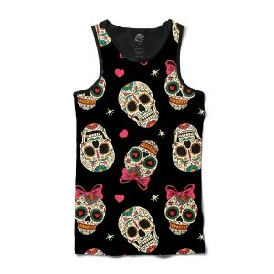 Camiseta BSC Regata Love Skull Sublimada Preto