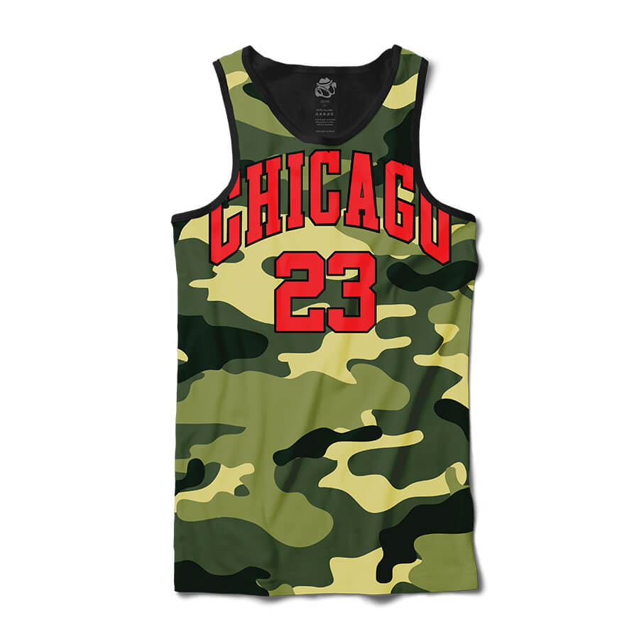 Camiseta BSC Regata Chicago Camo Full Print Preto