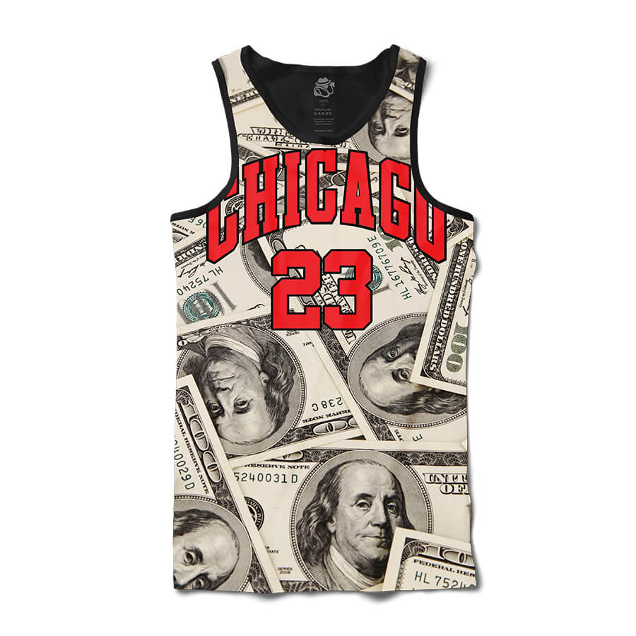 Camiseta BSC Regata Chicago Dollar Full Print Preto