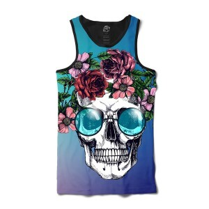 Camiseta BSC Regata Skull Glasses Full Print Preto