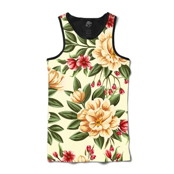 Camiseta BSC Regata Beautiful Flowers Sublimada Preto