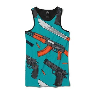 Camiseta BSC Regata Weapon and Knife Full Print Preto