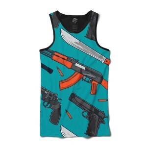 Camiseta BSC Regata Weapon and Knife Sublimada Preto