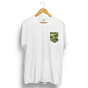 Camiseta BSC Camo Pocket Branco