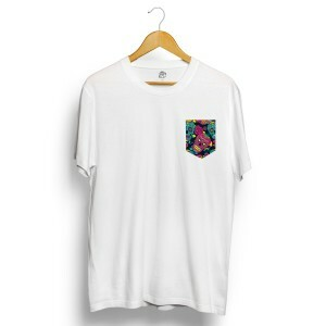Camiseta BSC Mexican Skull Diamond Pocket Branco