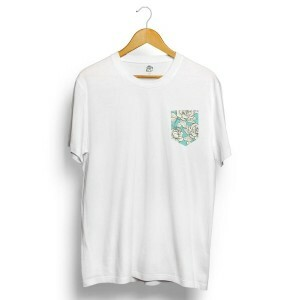 Camiseta BSC White Roses Pocket Branco