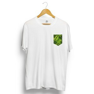 Camiseta BSC Marijuana Pocket Branco