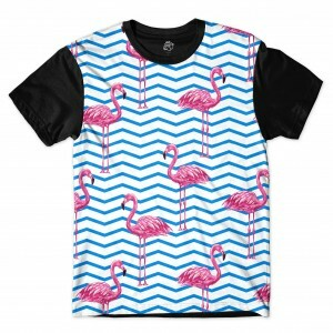 Camiseta BSC Flamingo Full Print Preto