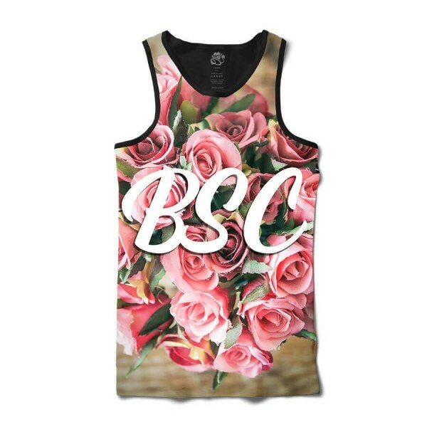 Camiseta BSC Regata Bouquet of Flowers Sublimada Preto