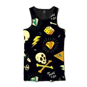 Camiseta BSC Regata Too Young To Die Sublimada Preto