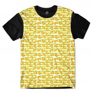 Camiseta BSC Banana Bunch Sublimada Preto