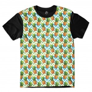 Camiseta BSC Pineapple Mix Sublimada Preto
