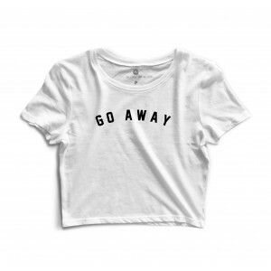 Cropped Morena Deluxe Go Away Branco