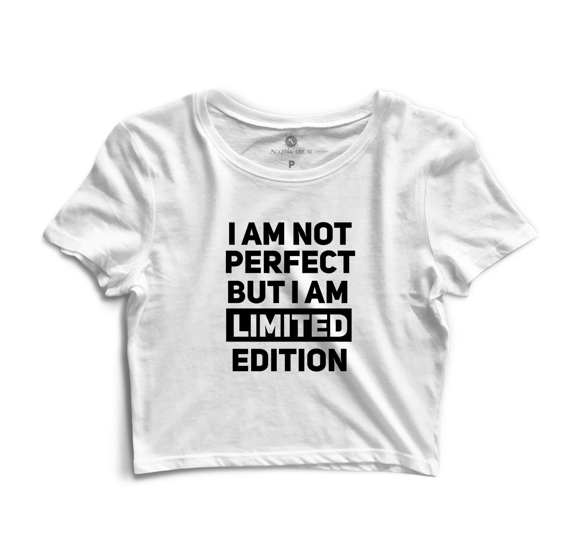Cropped Morena Deluxe I Am Not Perfect Branco