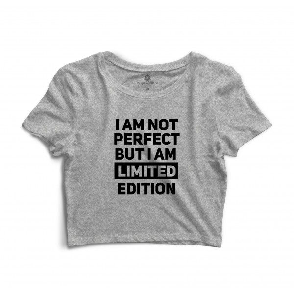 Cropped Morena Deluxe I Am Not Perfect Cinza
