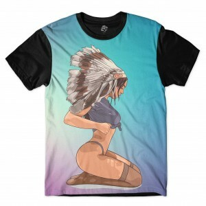 Camiseta BSC Indian Girl Sublimada Preto
