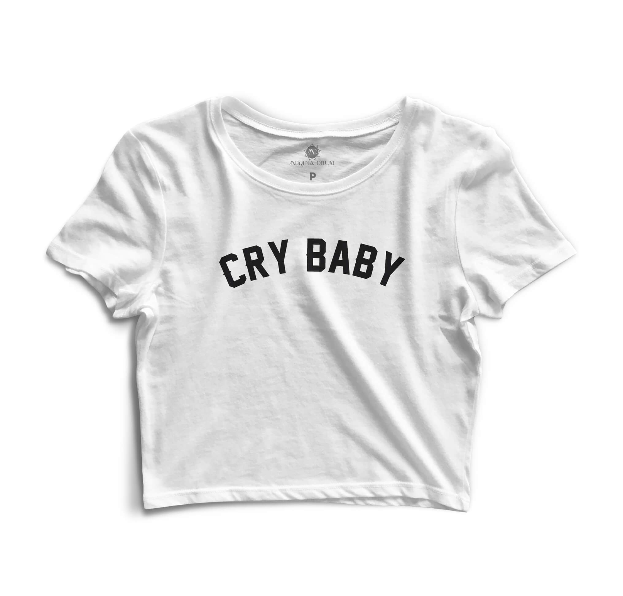 Cropped Morena Deluxe Cry Baby Branco
