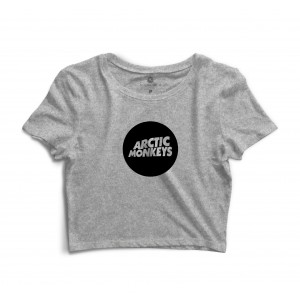 Cropped Morena Deluxe Arctic Monkeys Cinza