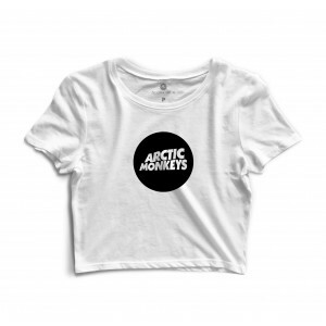 Cropped Morena Deluxe Arctic Monkeys Branco