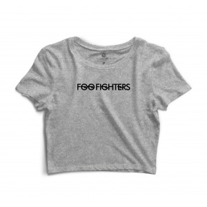 Cropped Morena Deluxe Foo Fighters Cinza