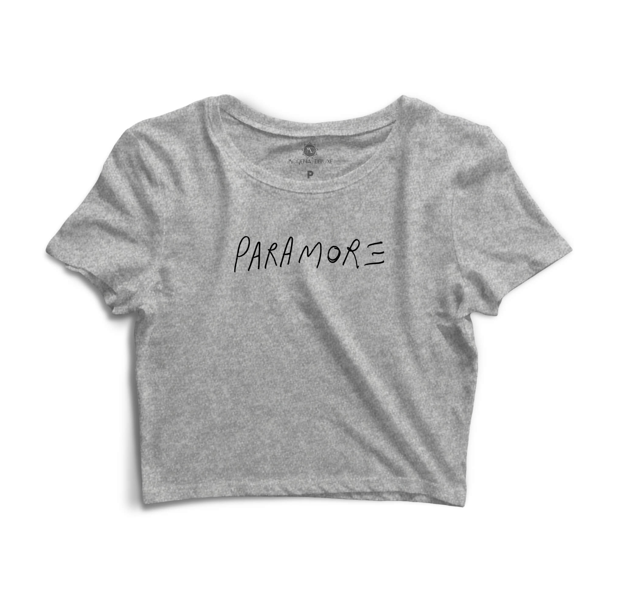 Cropped Morena Deluxe Paramore Cinza