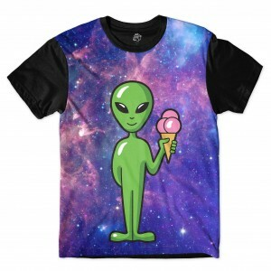 Camiseta BSC Alien Galaxy Sublimada Preto