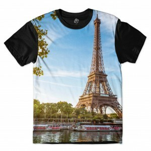 Camiseta BSC  Eiffel Tower Sublimada Preto
