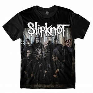 Camiseta BSC Slipknot Sublimada Preto