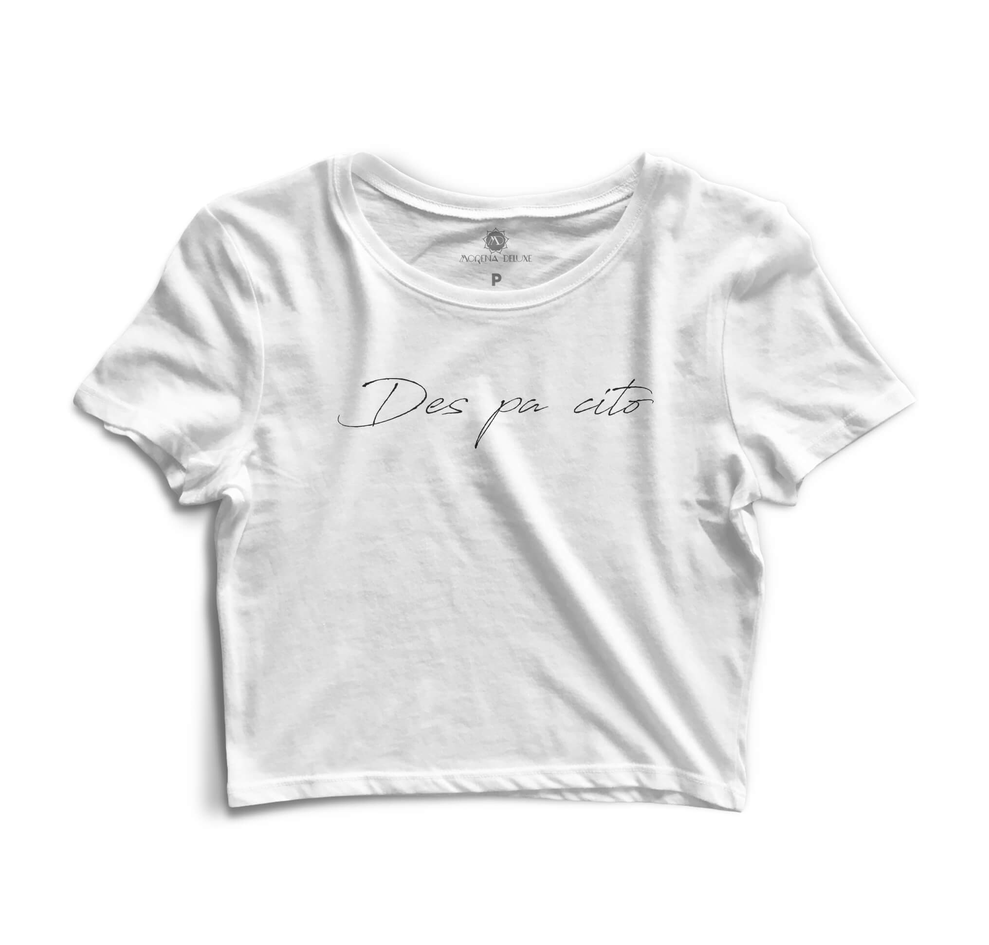 Cropped Morena Deluxe Despacito Branco
