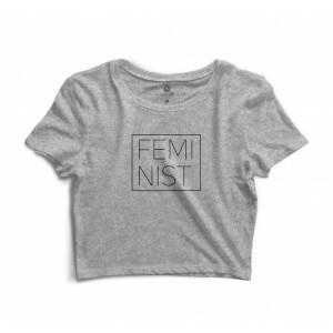 Cropped Morena Deluxe Feminist Cinza
