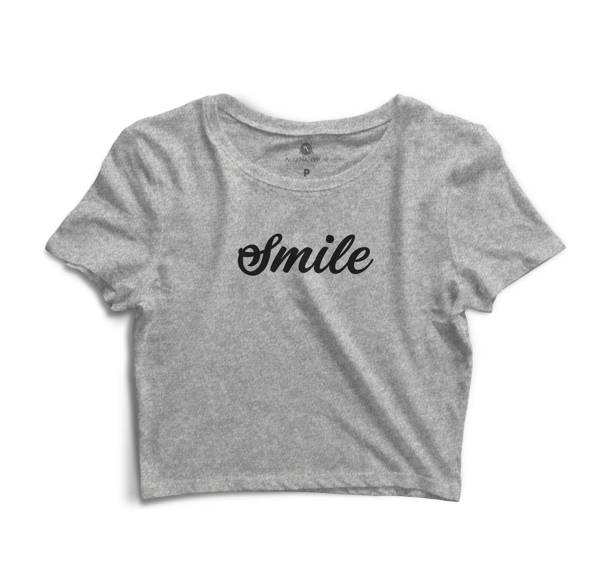 Cropped Morena Deluxe Smile Cinza