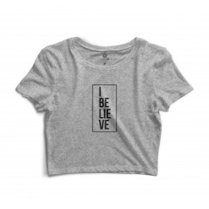 Cropped Morena Deluxe I Believe Cinza