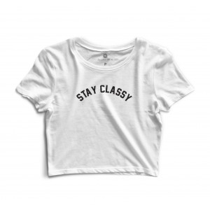 Cropped Morena Deluxe Stay Classy Branco