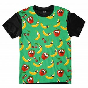 Camiseta BSC Banana and Apple Full Print Preto