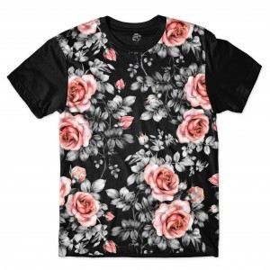 Camiseta BSC Black Autumn Full Print Preto