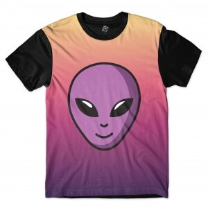 Camiseta BSC Purple Alien Sublimada Preto