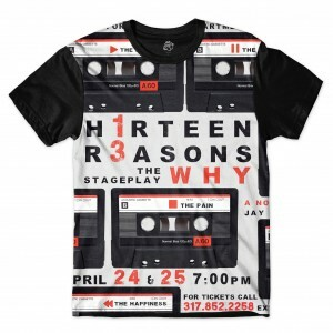 Camiseta BSC Thirteen Reasons Why Sublimada Preto