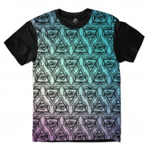 Camiseta BSC All Eyes Color Full Print Preto