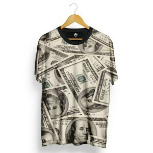 Camiseta BSC Dollar Total Full Print  Cinza