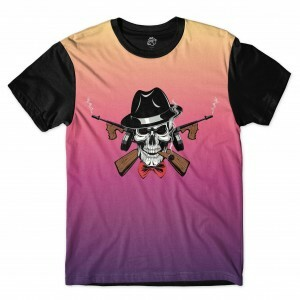 Camiseta BSC Skull Arm Sublimada Preto
