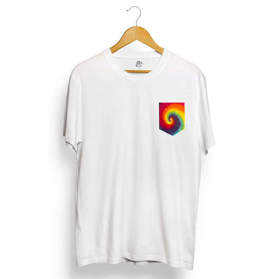Camiseta BSC Tie Dye Pocket Branco