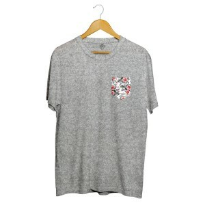 Camiseta BSC Sure Flower Pocket Cinza