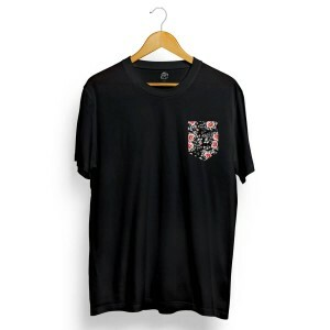 Camiseta BSC Dark Flower Pocket Preto