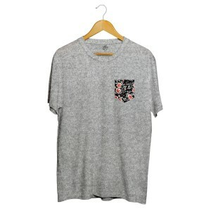 Camiseta BSC Dark Flower Pocket Cinza