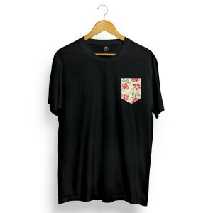 Camiseta BSC Rose Pocket Preto