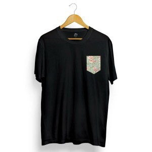 Camiseta BSC Flower Garden Pocket Preto