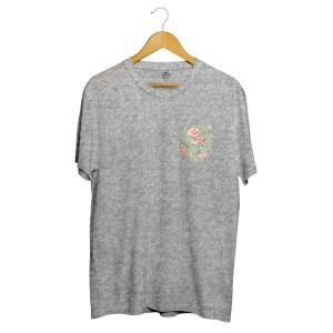 Camiseta BSC Flower Garden Pocket Cinza