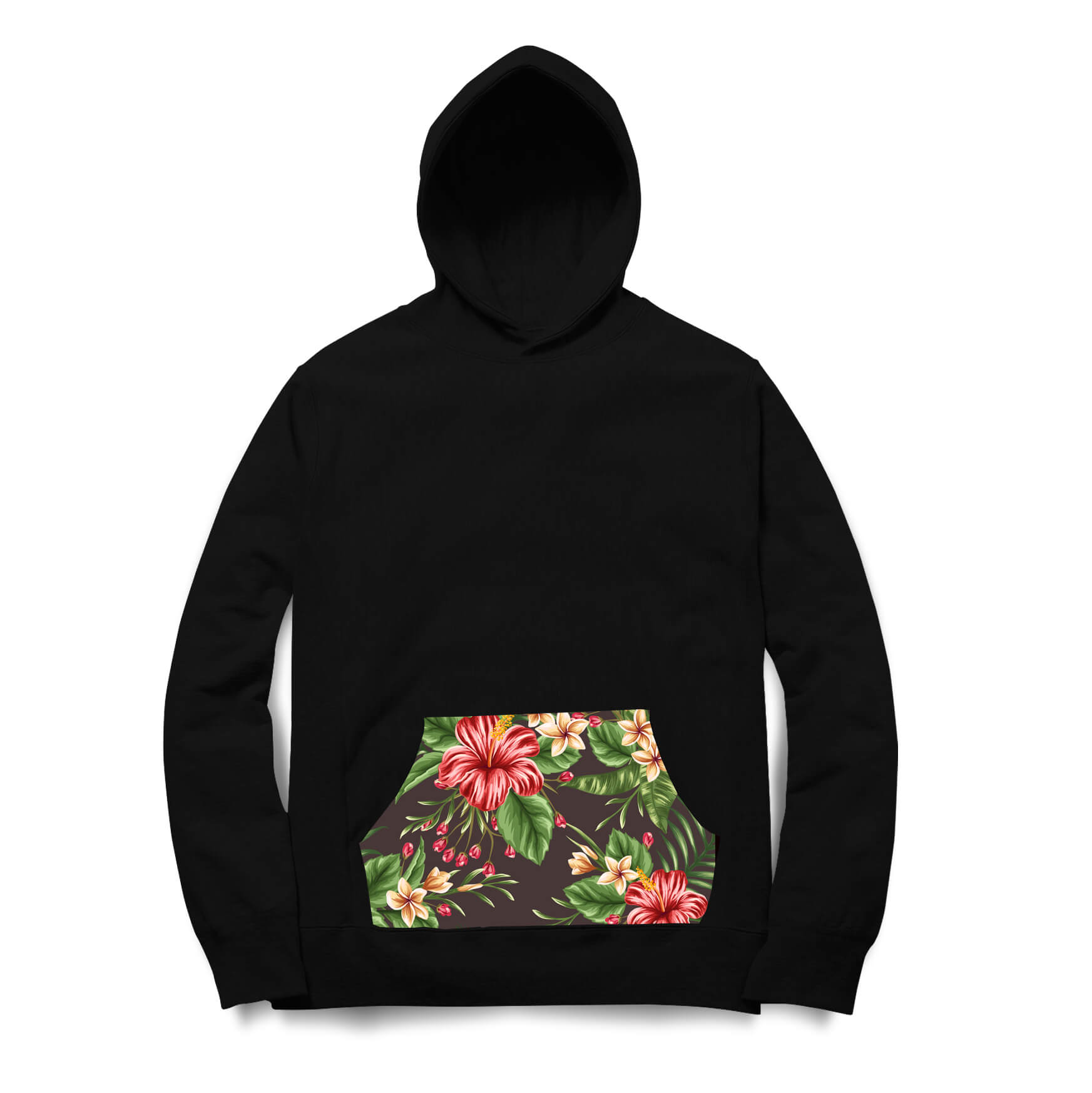 Moletom Skill Head Flowers leaves Preto